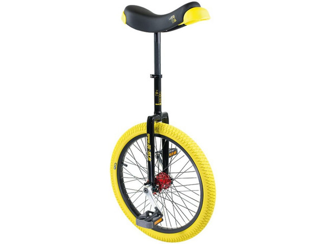 QU-AX Profi ISIS Ethjulet cykel gul/sort | City-cykler